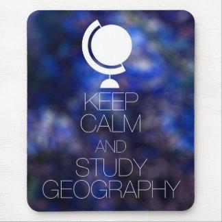 Behalten Sie ruhige und Studien-Geografie Mousepad