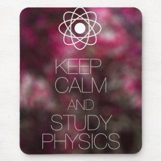 Behalten Sie ruhige und Studien-Physik Mousepad
