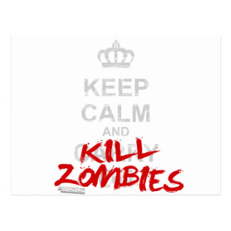 Behalten Sie ruhige und Tötungs-Zombies - Postkarte