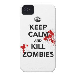 behalten Sie ruhige und Tötungszombies iPhone 4 Etuis