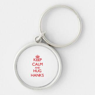 Behalten Sie ruhige und Umarmungs-Knäuel Schlüsselanhänger