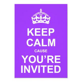 Behalten Sie ruhige Ursache, die Sie eingeladenes 12,7 X 17,8 Cm Einladungskarte