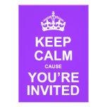 Behalten Sie ruhige Ursache, die Sie eingeladenes Einladungskarte