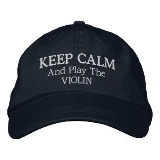 Behalten Sie ruhige Violinen-Musik gestickten Hut Bestickte Mützen