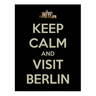 behalten Sie ruhigen Besuch Berlin Postkarte