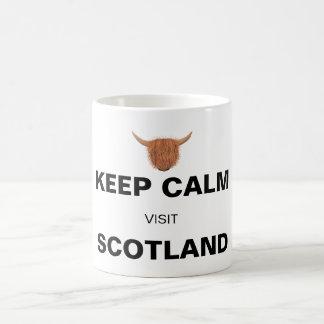 Behalten Sie ruhigen Besuch Schottland (auf Weiß) Kaffeetasse