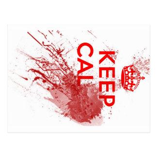 Behalten Sie ruhigen blutigen Zombie Postkarte