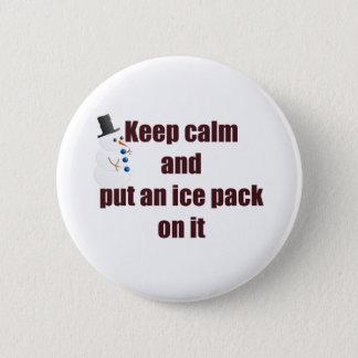 Behalten Sie ruhigen Gebrauchs-Eis-Satz Runder Button 5,1 Cm