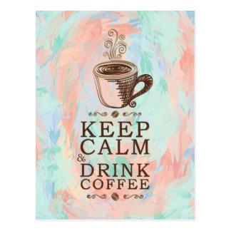 Behalten Sie ruhigen Getränk-Kaffee - abstrakten Postkarte