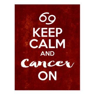 Behalten Sie ruhigen Krebs auf Postkarte