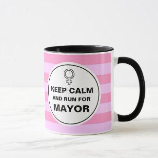 Behalten Sie ruhigen Lauf für Bürgermeister Tasse