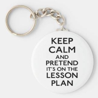 Behalten Sie ruhigen Lektions-Plan Schlüsselbänder