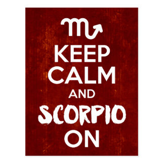 Behalten Sie ruhigen Skorpion auf Postkarte