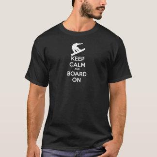 Behalten Sie ruhigen SnowBoard T-Shirt