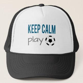 Behalten Sie ruhigen Spiel-Fußball-Sport-Hut Truckerkappe