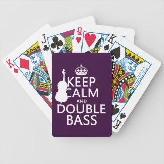 Behalten Sie ruhigen und doppelten Baß (irgendeine Bicycle Spielkarten