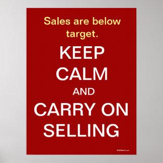Behalten Sie ruhigen verkaufenden motivierend Poster
