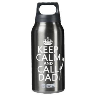 Behalten Sie ruhiger und Anruf-Vati Isolierte Flasche