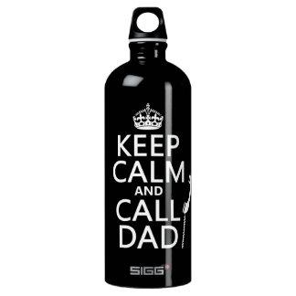 Behalten Sie ruhiger und Anruf-Vati Wasserflasche