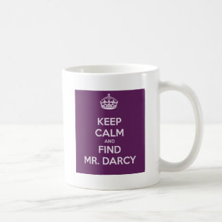 Behalten Sie ruhiger und Entdeckungs-Herr Darcy Kaffeetasse