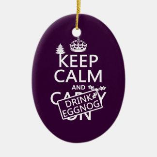 Behalten Sie ruhiger und Getränk-Eierpunsch Keramik Ornament