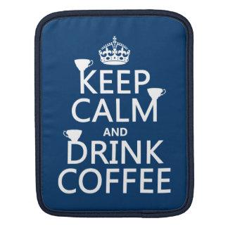 Behalten Sie ruhiger und Getränk-Kaffee - alle Sleeve Für iPads