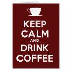 Behalten Sie ruhiger und Getränk-Kaffee Karte