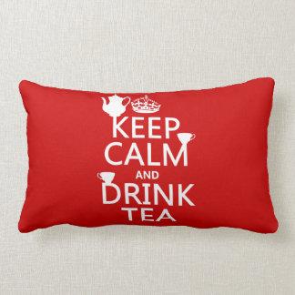Behalten Sie ruhiger und Getränk-Tee - alle Farben Lendenkissen