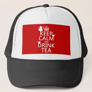 Behalten Sie ruhiger und Getränk-Tee - alle Farben Truckerkappe