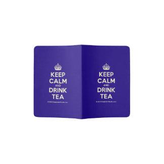 Behalten Sie ruhiger und Getränk-Tee Passhülle