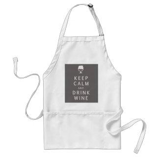 Behalten Sie ruhiger und Getränk-Wein Schürze