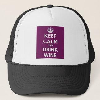 Behalten Sie ruhiger und Getränk-Wein Truckerkappe