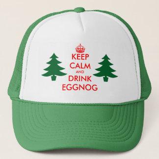 Behalten Sie ruhiger und Getränkeierpunsch Truckerkappe