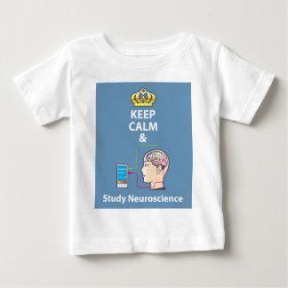 Behalten Sie ruhiger und Studien-Neurologievektor Baby T-shirt