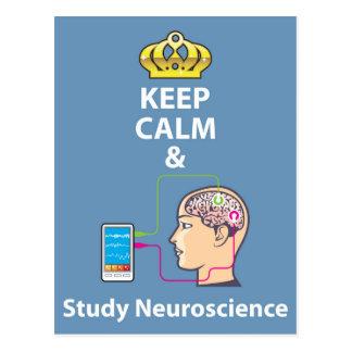 Behalten Sie ruhiger und Studien-Neurologievektor Postkarte