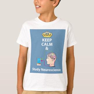 Behalten Sie ruhiger und Studien-Neurologievektor T-Shirt