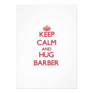 Behalten Sie ruhiger und Umarmungs-Friseur Personalisierte Einladungen