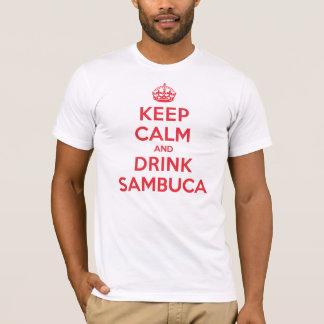 Behalten Sie ruhiges Getränk Sambuca T-Shirt