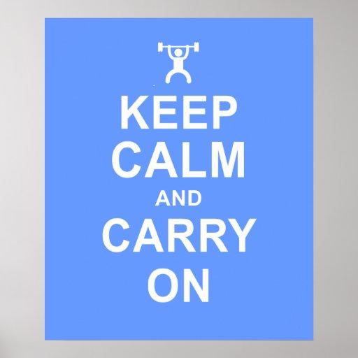 Behalten Sie ruhiges Gewichts-AnhebenFitness-Motiv Posterdrucke
