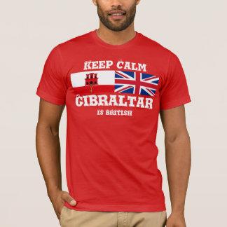 Behalten Sie ruhiges Gibraltar ist britischer T - T-Shirt
