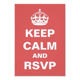Behalten Sie ruhiges Hochzeit UAWG 8,9 X 12,7 Cm Einladungskarte
