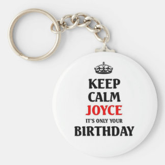 Behalten Sie ruhiges Joyce, das es nur Ihr Geburts Standard Runder Schlüsselanhänger