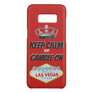 Behalten Sie ruhiges Las- Vegasviel Glück Case-Mate Samsung Galaxy S8 Hülle