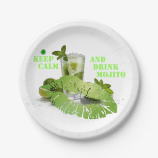 Behalten Sie ruhiges Mojito Pappteller 17,8 Cm