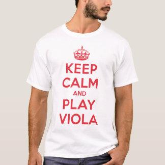 Behalten Sie ruhiges Spielviola-Shirt T-Shirt
