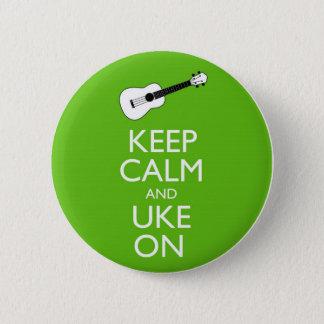 Behalten Sie ruhiges Uke auf (Kleeblatt) Runder Button 5,1 Cm