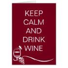 Behalten Sie ruhiges und Getränk-Wein-Zitat mit Karte