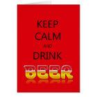 Behalten Sie ruhiges und Getränkbier Karte