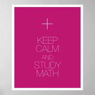 Behalten Sie ruhiges und Studien-Mathe Poster