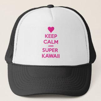 Behalten Sie ruhiges und SuperKawaii Truckerkappe
